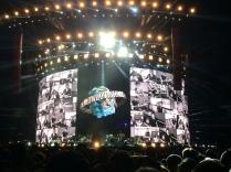 Il palco, a concerto appena concluso